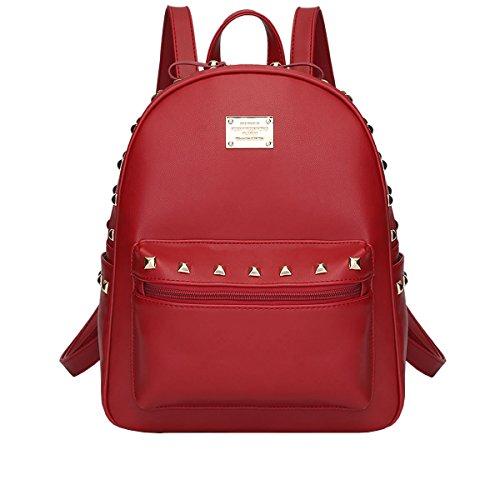 DISSA - Bolso mochila de Otra Piel para mujer Rojo