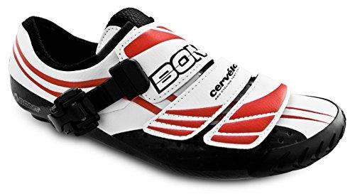 Bont Three (A3) Zapatillas de Ciclismo Carretera Blanco/Rojo Talla 39