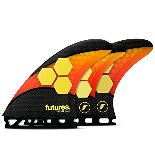 Futures Fins - 2017 AM2 TECHFLEX 5-FIN - ORANGE/RED for sale  Delivered anywhere in USA