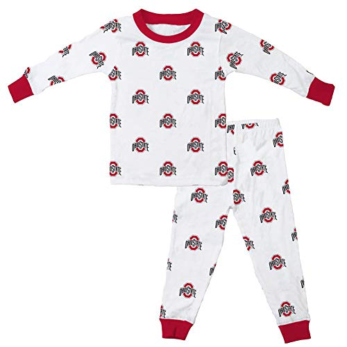 Wes and Willy Infant Toddler Ohio State University Buckeyes PJ Set Organic Cotton PJs (3T) ()