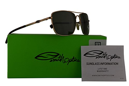 Smith Nomad Sunglasses Matte Gold w/ChromaPop Polarized Grey Green Lens 59mm RV3 Nomad/S