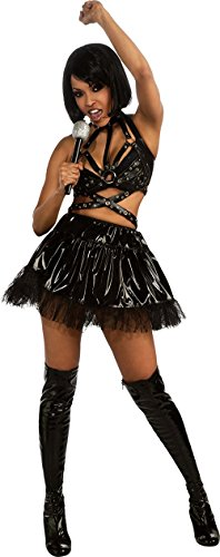 Historical Hotties Rihanna Black Outfit Adult Halloween Costume -