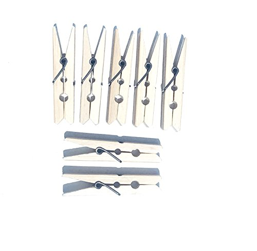 - Alphy Natural Bamboo Clothes Pins Pegs Hanging Clips Clothespins, 2.4