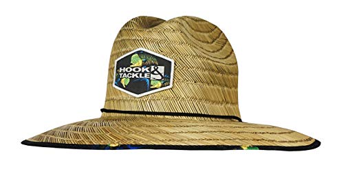 Hook & Tackle Bull Dolphin Lifeguard | Fishing Stretch Fit | Straw Hat (Medium, Natural)