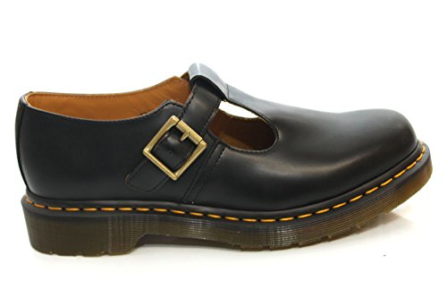Dr. Martens Unisex-Adults Polley Smooth Shoes - 7 UK, (Black)
