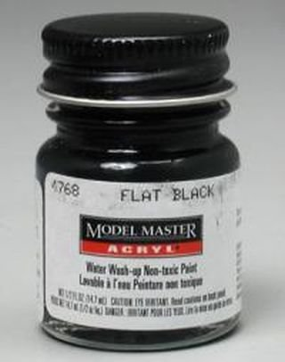 (Flat Black Testors Acrylic Plastic Model Paint )
