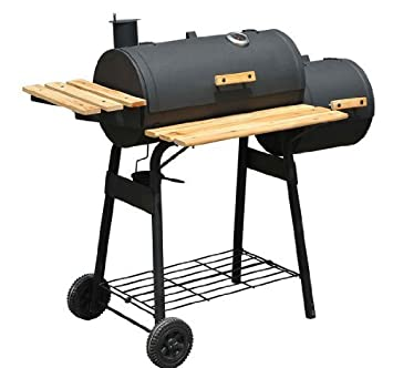 48u0026quot; Backyard Charcoal Grill With Wheels