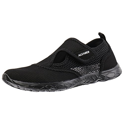 Aleader Men's Quick-dry Slip On Water Shoes All Black 12 D(M) US (Shoes Sale)