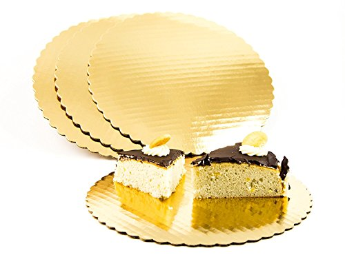 Chefible Premium Gold Cake Circles, Corrugated, Cake Board, 10 Inch Diameter, Pack of 12
