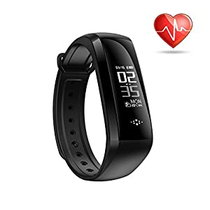 Fitness Tracker Heart Rate Monitor Activity Band Blood Pressure Sleep Monitor Pedometer Waterproof Bluetooth Smart Bracelet for IOS & Android