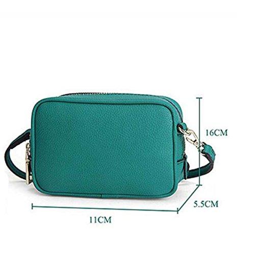 Le Donne Il Cuoio Sacchetto Del Telefono Mobile Modello Del Litchi Borsa A Tracolla Green