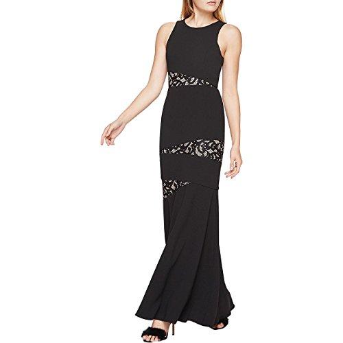 BCBG Max Azria Womens Dominique Full-Length Lace Formal Dress Black 4 ()