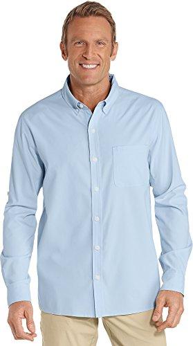 Top Protection Layer Spf 20 (Coolibar UPF 50+ Men's Sun Shirt - Sun Protective (XX-Large- Light Blue))