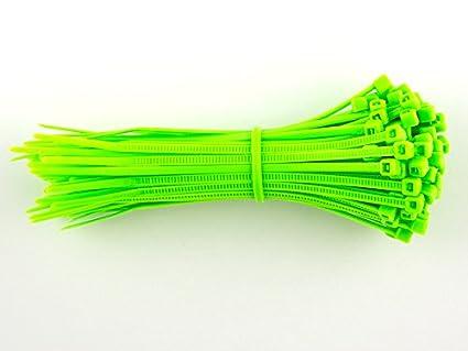 /300/mm x 4,8/mm/ 100/unidades de fluorescente verde bridas/ /alta calidad fuerte nylon Zip Ties por gocableties