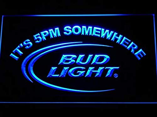 Bud Light Beer It's 5 PM Somewhere Bar Budweiser Led Light S