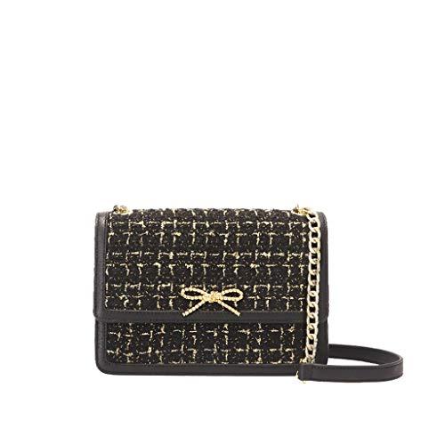 Bolso de bandolera para mujer Nuevo bolso de mensajero con cadena de PU (color : A, Tamaño : 9 * 3 * 6.4 inches)