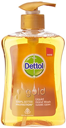 Dettol Classic Clean Liquid Hand Wash – 250 ml (Gold)