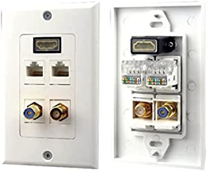 Pyle-Home PHRCOMP3 3 RGB//RCA Component Wall Plate