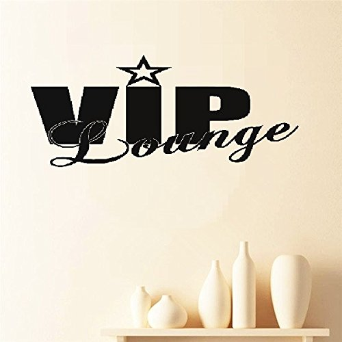 - xnhga Vinyl Art Mural Wall Quote Saying Stickers VIP Lounge Word Bedroom Decals for Bedroom Living Room