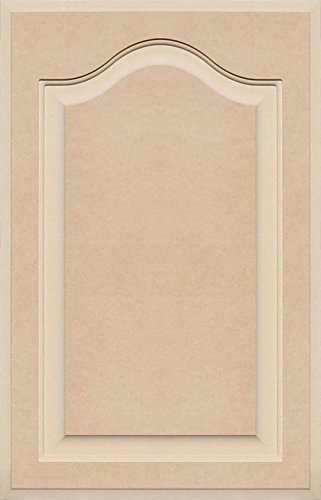 Unfinished Arch Top Cabinet Door in MDF by Kendor, 25 High x 16 Wide