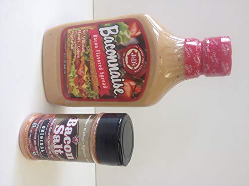 Baconnaise Bacon Mayonnaise & Bacon Salt Seasoning Combo (2pc Set) - Vegetarian & Kosher Gift Pack