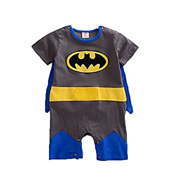 36c99a79 Baby Boy Girl Infant Child Batman Superhero Superman Rompers Bodysuit Onesie  Babygrow Outfit Sets Range of Sizes with Cape UK Seller (12-18 Months): ...