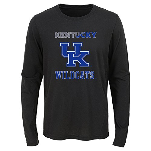 Wildcats Youth Boys Flux Long Sleeve Ultra Tee, Youth Boys Medium(10-12), Black ()