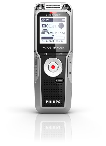 Philips DVT5500/00 4 GB Digital Voice Tracer with 3 Built-In Microphones and Remote Voice Recorder by Philips