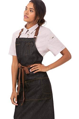 Chef Works Unisex Memphis Bib Apron, Black, One Size 4