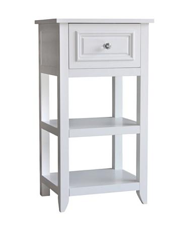 Elegant Home Fashions Dawson 1-Drawer End Table in White (Accent Dawson)