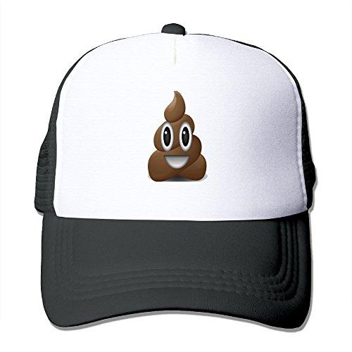 Poop Poo Emoji Emoticon Fashion Unisex Trucker Hats,Adjustable Baseball Cap Hats Hot Sale!