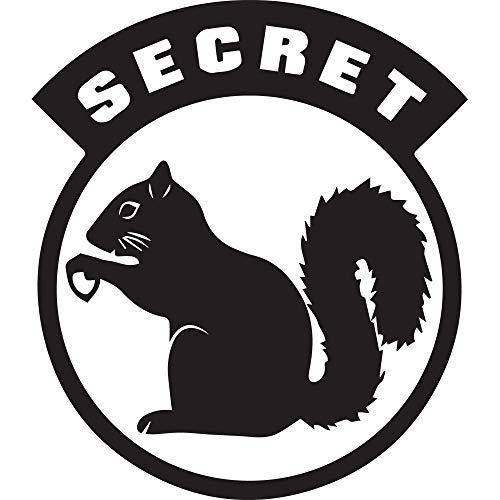(NBFU DECALS Secret Squirrel (Black) (Set of 2) Premium Waterproof Vinyl Decal Stickers for Laptop Phone Accessory Helmet Car Window Bumper Mug Tuber Cup Door Wall Decoration)