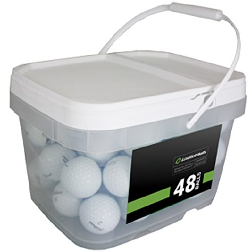 (Titleist Player Mix 48 Recycled Golf Balls, White)