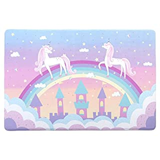 Tadpoles Super-Soft Memory Foam Unicorn Plush Playmat, Pink