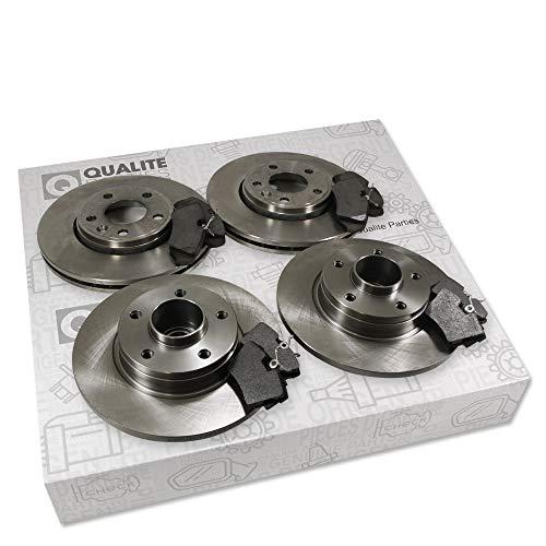 4x Brake Discs + Brake Pads Rear Brake Pads: