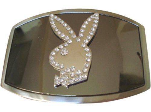 JK Trading Men's Playboy Bunny Rhinestone Gold Belt Buckle ()