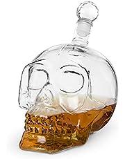 Foster & Rye 6060 Skull Liquor Decanter, Clear