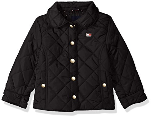 - Tommy Hilfiger Girls' Toddler Diamond Quilted Barn Jacket, Black, 2T
