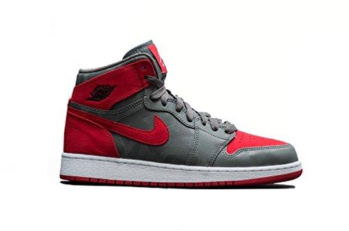 timeless design 0baff 48e8f Galleon - Jordan Nike Boys Air 1 Retro High Premium Basketball Shoe (GS) River  RockBlack-University Red-White 5.5Y