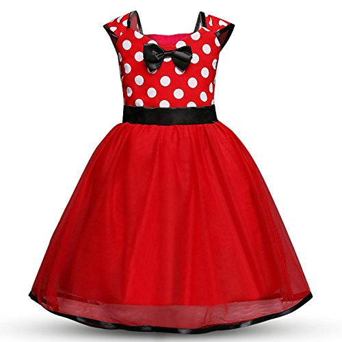 Baby.Yep Toddler Girls' Polka Dot Princess Party Cosplay Pageant Fancy Costume Bowknot Ballet Leotard Tutu Dress up