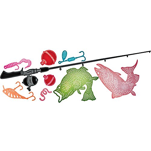 Cheery Lynn Designs B648 Fishing  9 Piece Die Set
