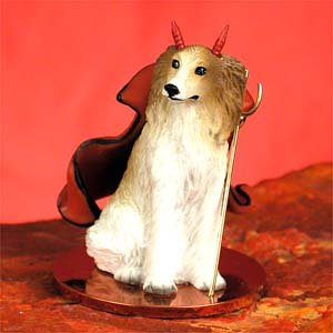 Borzoi Figurine (Borzoi Dog Devil Figurine)