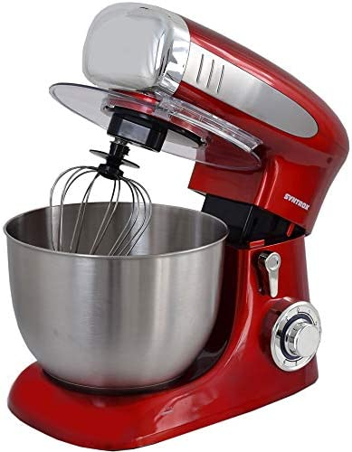 Syntrox Germany KM-1300W Red - Robot de cocina (recipiente de acero inoxidable, 6,5 L), color rojo: Amazon.es: Hogar