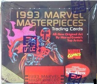1993 Marvel Masterpieces Non Sport Trading Cards Box by SkyBox from skybow