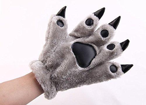 Hongyu Fashion Warm Adorable Unisex Plush Fancy Party Kigurumi Pet Panda Bear Cat Cartoon Animal Paw Claw Hand