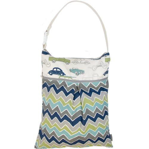 6d48ae738a7b Logan + Lenora Daytripper Wet and Dry Tote - Large Cloth Diaper Wet Bag  with Dry Pocket - Beach
