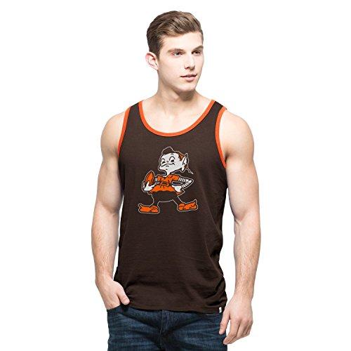 NFL Cleveland Browns Men's '47 Crosstown Tank Top, Medium, - Boy Logo Beater