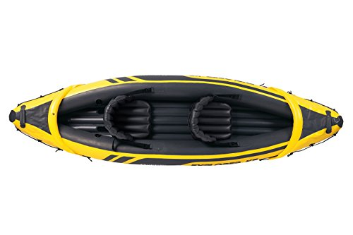 41spATYyRSL - Intex Explorer K2 Kayak, 2-Person Inflatable Kayak Set with Aluminum Oars and High Output Air Pump