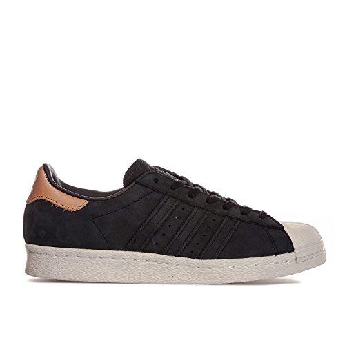 Adidas Originali Da Donna Originali Superstar Anni 80 Scarpe Da Ginnastica Us10 Nere
