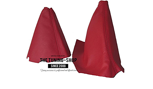 Shift and Ebrake Boot For Chevrolet Corvette C5 1997-04 Leather Red Stitching